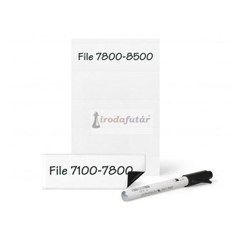 Mágneses címketartó három választható méretben (55 x 102 mm, fehér)
