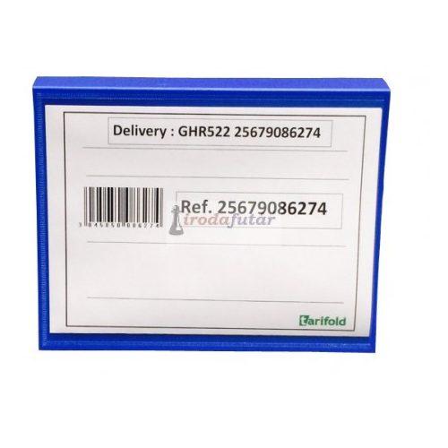 Dokumentumtartó raklapra, két méretben (A5, fekvő, kék)