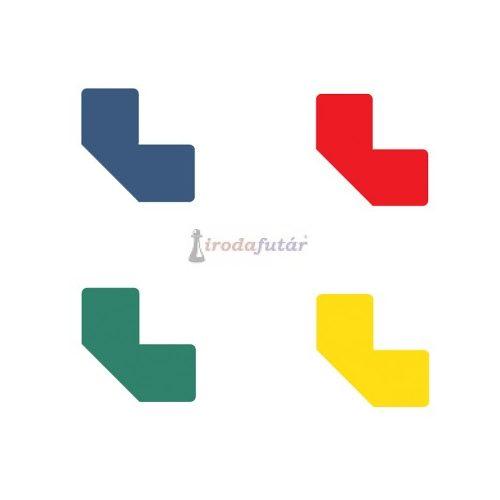 """""""L"""" alakú padlójelölő matrica négy féle színben (piros)"""