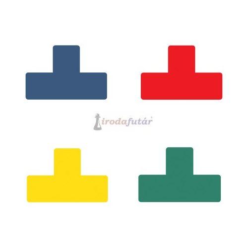 """""""T"""" alakú padlójelölő matrica négy féle színben (kék)"""