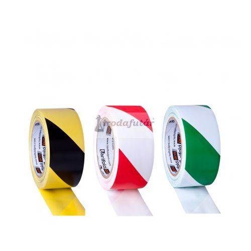 Csíkos padlójelölő szalag három féle színben (sárga-fekete)