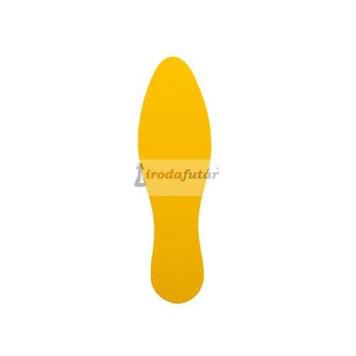 """""""LÁBNYOM"""" alakú padlómatrica sárga színben"""