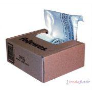 Hulladékgyűjtő zsák iratmegsemmisítőhöz, 30 literes kapacitásig, FELLOWES