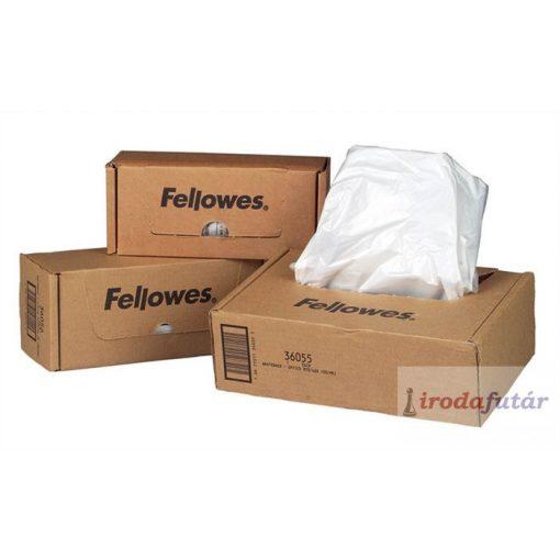 Hulladékgyűjtő zsák iratmegsemmisítőhöz, 30-35 literes kapacitásig, FELLOWES