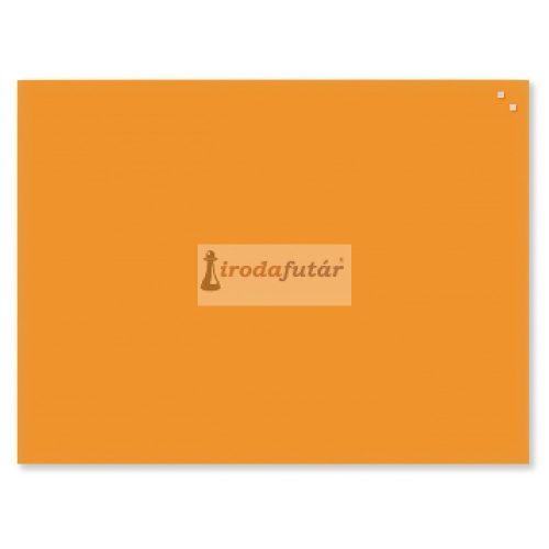 Narancssárga mágneses üvegtábla (60 x 80 cm)