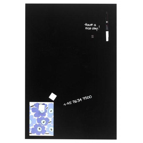 Fekete mágneses üvegtábla (40 x 60 cm)
