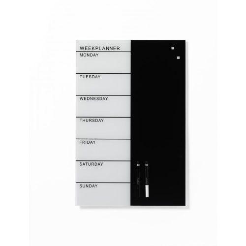 NAGA Mágneses üvegtábla HETI TERVEZŐ (angol) (40 x 60 cm)