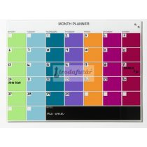 Glass month planner 80 x 60 cm. English