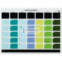 Glass month planner 120 x 90 cm. English