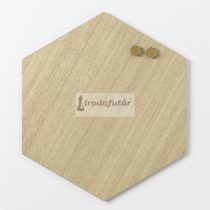 Magnetic board Hexagonal 42 cm. Oak