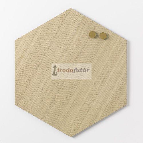 Magnetic board Hexagonal 42 cm. Oak