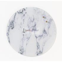 Magnetic Glass board dia. 35 cm. White Marble
