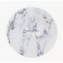 Fehér márvány köralakú mágneses üvegtábla (35 cm)