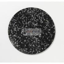 Fekete Terrazzo köralakú mágneses üvegtábla (35 cm)