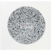 Fehér Terrazzo köralakú mágneses üvegtábla (35 cm)