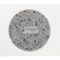Magnetic Glass board dia. 35 cm. Grey mix Terrazzo