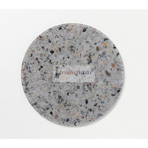 Szürke Terrazzo köralakú mágneses üvegtábla (35 cm)