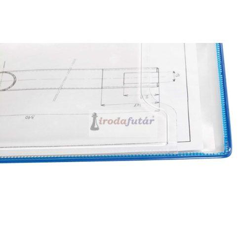 Fold Up forgócsapos, lapozható bemutatótábla, A4, kék