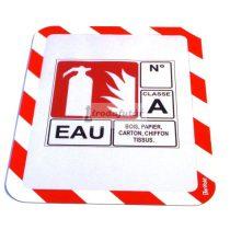 Magneto Safety öntapadó tasak piros - fehér, A4        Visszaszedhető!!