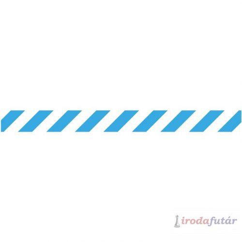 Kék-fehér padlójelölő csík, 1 méter hosszú