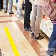 Sárga padlójelölő csík, 1 méter hosszú