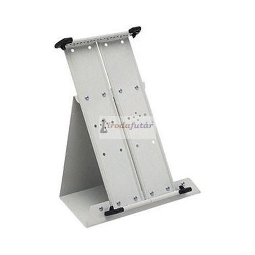 Üres asztali állvány, fém, A4 20 db bemutatótáblához