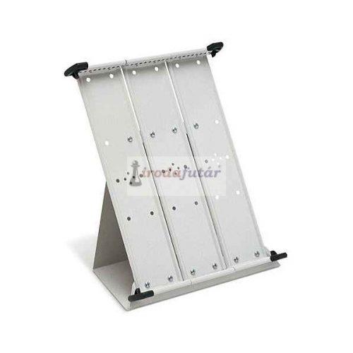 Üres asztali állvány, fém, A4 30 db bemutatótáblához