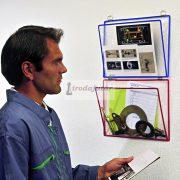 Függő irattartó tasak A4 redővel, fekvő, vegyes szín