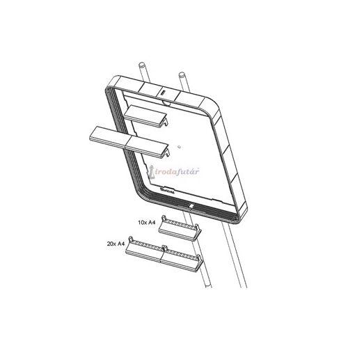 Bepattintható, műa., táblarögzítő, 2 db, A4-s vagy A5-s táblákhoz, az Info állványhoz